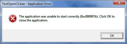 Hình ảnh về lỗi 0xc00007b